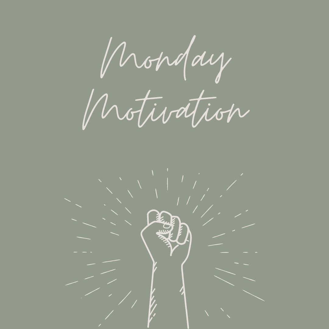 Monday motivation fist pump sparkle